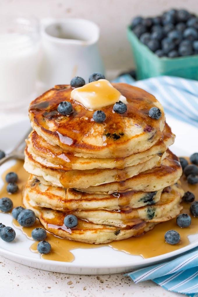 Sour Cream Blueberry Pancakes Recipe | Breakfast Care