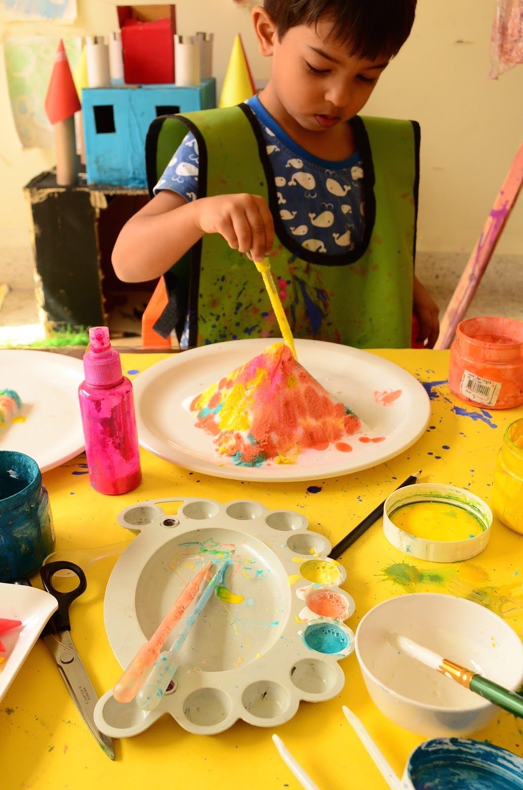 The Practical Mom: Paint Salt Castles