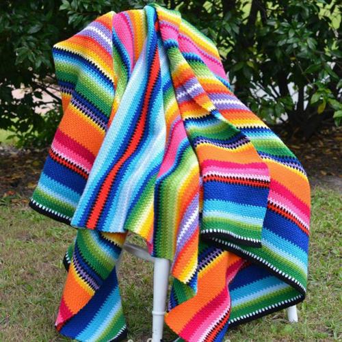 American Mechican Crochet Blanket - Free Pattern