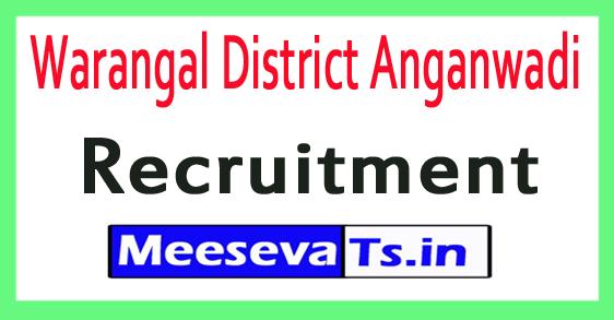 Warangal District Anganwadi Recruitment
