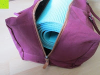 Seite: #DoYourYoga Yogabag »Ghanpati« / Yoga mat bag made of high-class Canvas, for EXTRA THICK yogamats / pilatesmats up to 186 x 62 x 1,5 cm, available in 9 fantastic colours.