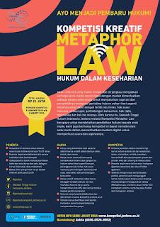 Kompetisi Kreatif Methapor LAW 2018 by STH Indonesia Jentera