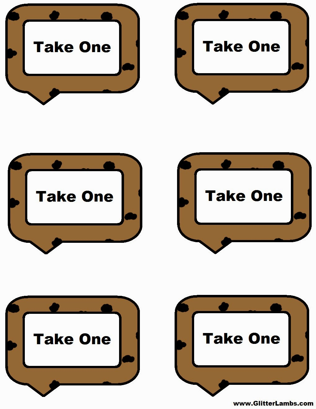 Trust image inside cookie template printable