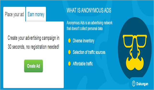 a-ads Anonymous Bit Coin Cara alternative memasang iklan di blog
