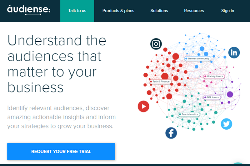 Audience offers amazing targeting tools and comprehensive analytics