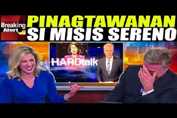 INTERVIEW NI SERENO KAY SACKUR PINAGTAWANAN