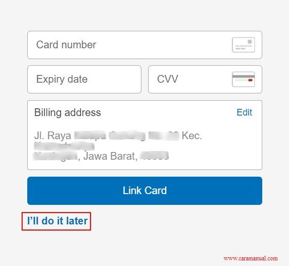Cara Membuat PayPal Tanpa Kartu Kredit 4