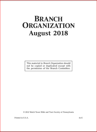 Branch Organization Manual