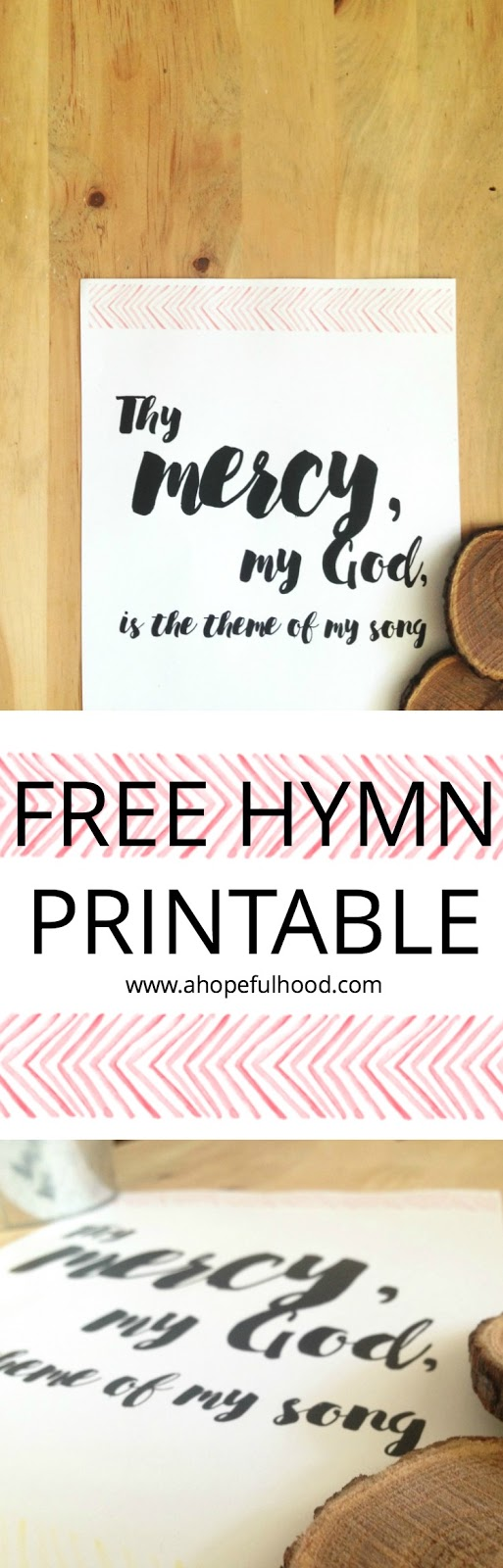 Free hymn printable PDF from @ahopefulhood