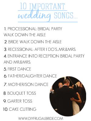 Sleepless In Diy Bride Country The 10 Important Wedding Songs