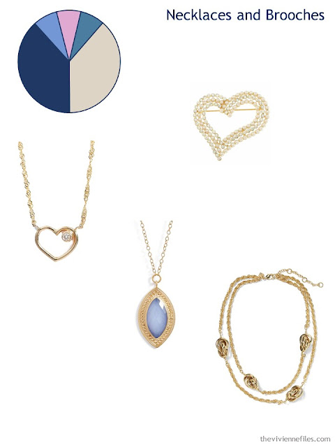 adding a brooch and necklaces to a 6 by 4 Accessory Wardrobe