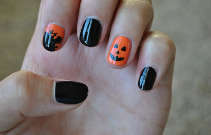 Halloween Nails, Pumpkin, Halloween