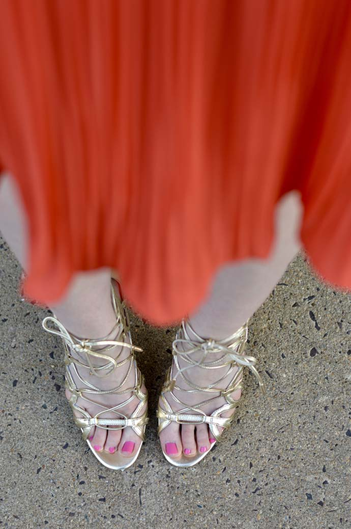 Gold Lace Up Sandals @rachmccarthy7
