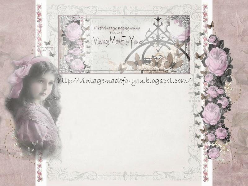 VintageMadeForYou: Free blog background; Pink Shabby Chic