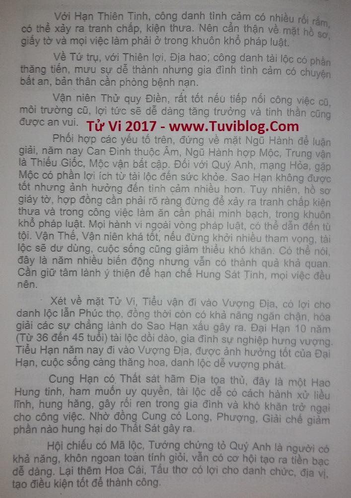 Tu vi 2017 Ky Mui 1979