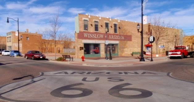 the universe smiles standing on the corner in winslow arizona. Black Bedroom Furniture Sets. Home Design Ideas