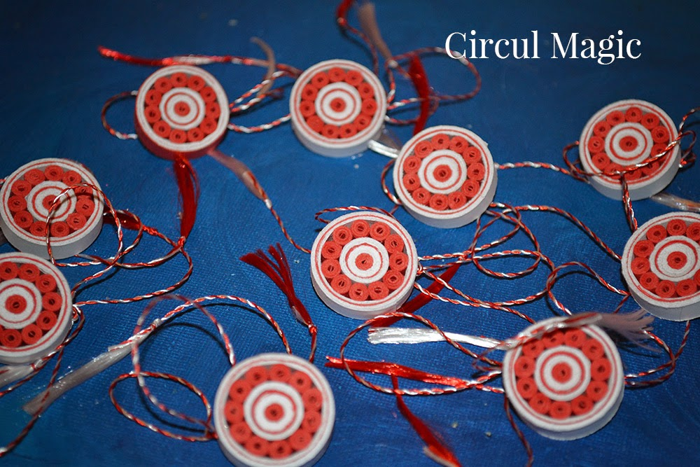 Martisoare Handmade 2015 Circul Magic Quilling
