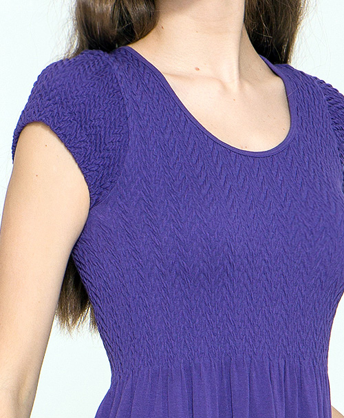 Basic Cap Sleeved Long Dress