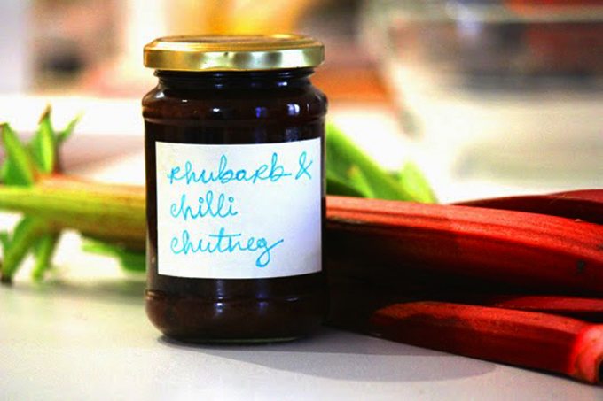 Rhubarb & Chilli Chutney - Recipe http://www.archieandtherug.com/2015/05/rhubarb-chilli-chutney-recipe.html