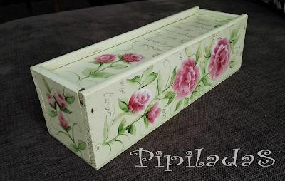 caja pintada vintage pinpiladas
