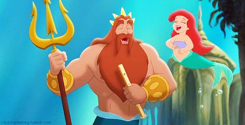 Ariel King Triton The Little Mermaid 3 2008 animatedfilmreviews.filminspector.com