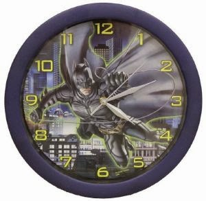 wall clock teenagers kids room batman theme room decor ideas