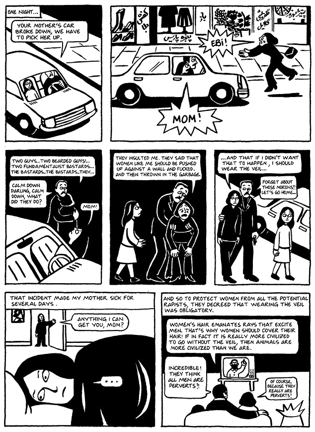 Read Chapter 10 - The Trip, page 72, from Marjane Satrapi's Persepolis 1 - The Story of a Childhood