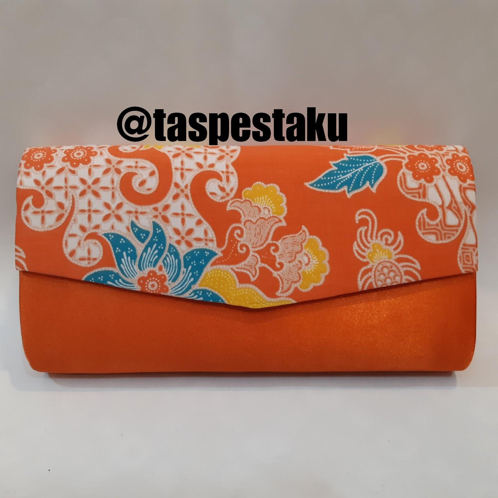 Tas Pesta - Clutch Bag  taspestaku  Koleksi Tas Pesta Oren Batik ... 592038d1d2