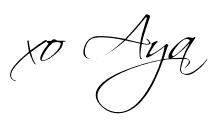 signature, fashion blogger