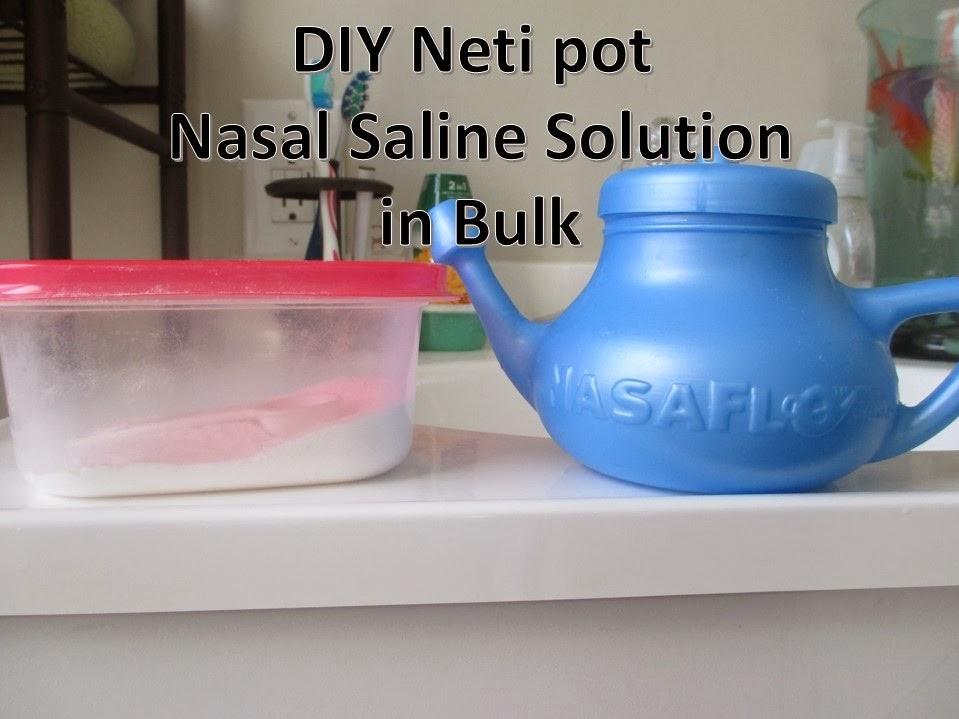 Solution for neti pot