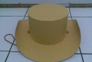 membuat topi koboi dari kertas karton