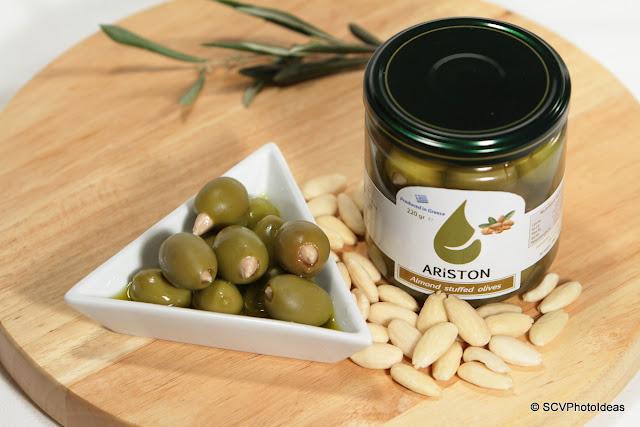 Ariston almond stuffed green olives