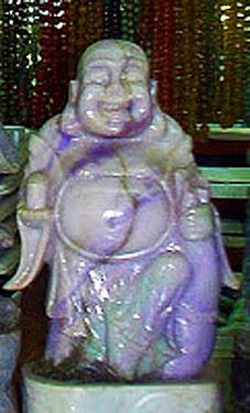 lavender jade Buddha statue