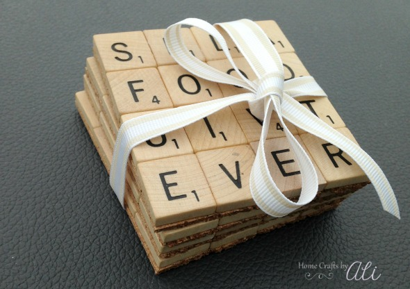 easy Scrabble Tile Coaster tutorial