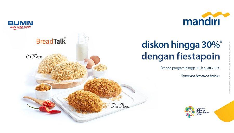 Bank Mandiri - Promo Diskon s.d 30% Pakai Fiestapoin (s.d 31 Januari 2019)