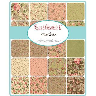 Moda Roses & Chocolate II Fabric by Moda Fabrics