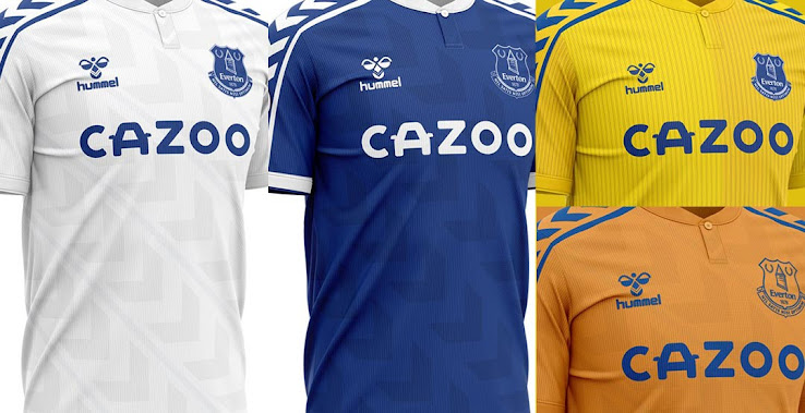 Classy Hummel Everton 20-21 Home, Away + 2 Alternative Kit ...