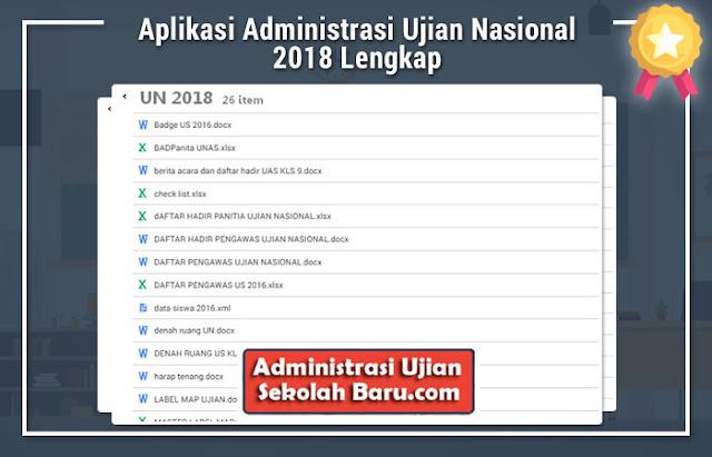 Aplikasi Administrasi Ujian Nasional 2018 Lengkap