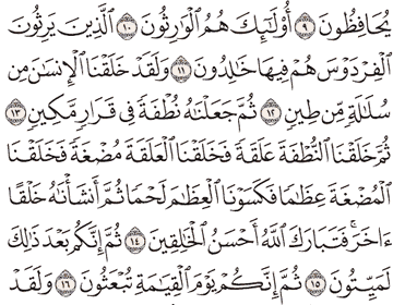 Tafsir Surat Al-Mu'minun Ayat 11, 12, 13, 14, 15