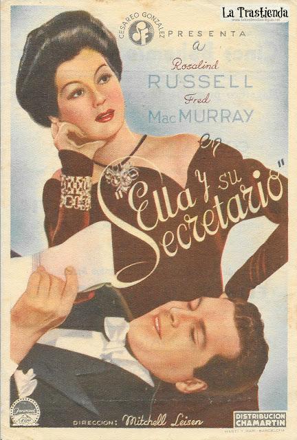 Ella y su Secretario - Programa de Cine - Rosalind Russell - Fred MacMurray