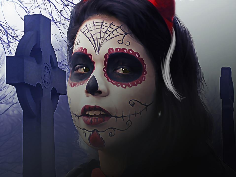 skull halloween makeup idea