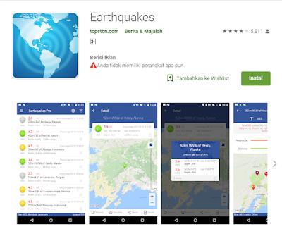 Aplikasi Pendeteksi Gempa Earthquakes