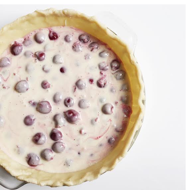 carina schoen: cherry custard crumble pie (and a new ...