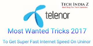 tricks to get high speed internet on uninor