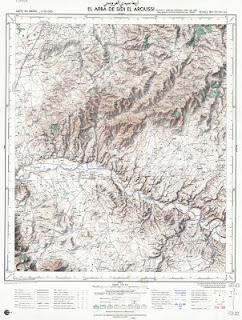 ARBA SIDI laaroussi Morocco 50000 (50k) Topographic map free download
