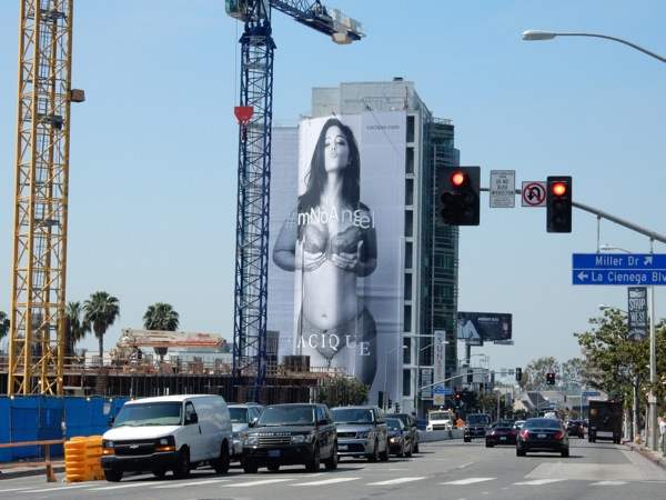 Giant Lane Bryant Cacique lingerie billboard Sunset Strip