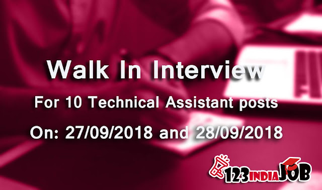 Walk in Interview for 10 Technical Assistant posts in Meghalaya