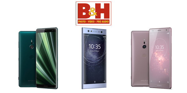 Get Sony Xperia XZ2, Xperia XA2 Ultra and Xperia XZ3 discounted at B&H