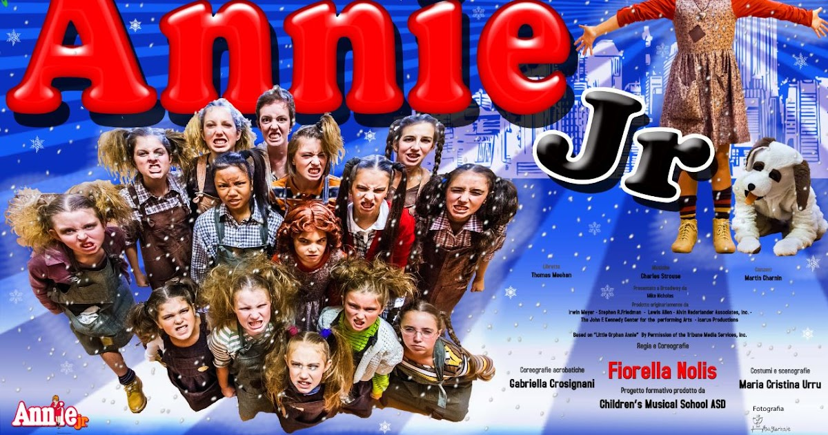 Annie Jr Children's Musical School, i ruoli e clip delle prove
