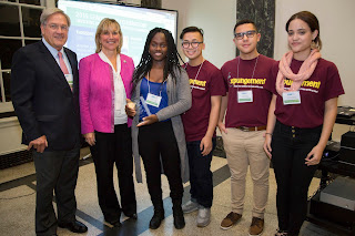 Scott Harshbarger, former Massachusetts Attorney General and Senior Counsel at Proskauer Rose LLC; Senator Karen Spilka; Teens Leading the Way youth